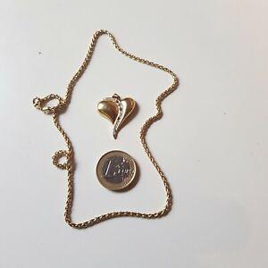 585 Gold Kette &Herzanhänger