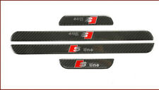 Carbon Fiber Scuff Door Sill Plate Step Protector Trim For Audi A3 S3 S Line A11
