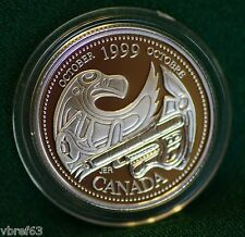 1999 CANADA Millennium Sterling Silver Quarter for October in proof finish