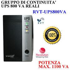 GRUPPO DI CONTINUITA' UPS 800VA  PC 2 INGRESSI SHUKO TVCC POTENZA MAX 1100 VA