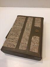 """1980s Pierre Cardin Sm Travel Backgammon Board - 10.75"""" X 7.5"""" Korea - PRISTINE"""