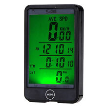 LCD WIRELESS WATERPROOF CYCLE BICYCLE BIKE COMPUTER SPEEDOMETER TOUCH