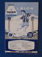 West Bromwich Albion v West Ham United - 20/4/63 - Programme