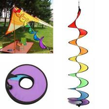 Foldable Camping Tent Rainbow Spiral Windmill Wind Spinner Home Garden Decor JJ