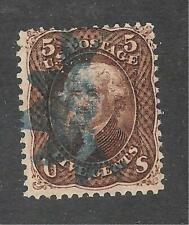 U.S. Scott 95 Jefferson 5c brown stamp, used.