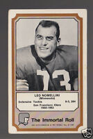 LEO NOMELLINI San Francisco 49ers 1974 Fleer The Immortal Roll Football HOF CARD