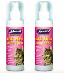 JOHNSON'S VETERINARY CAT FLEA PUMP SPRAYx2 TWIN PACK KILLS FLEAS 100 ML  [D113]