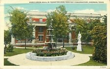 c1930s Annie Green Hall, North Texas College, Sherman, Texas Postcard