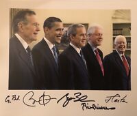 BARACK OBAMA, JIMMY CARTER, GEORGE HW BUSH, GEORGE W BUSH, & BILL CLINTON SIGNED