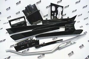 VW Touareg III CR7 Tiras Listones Negro Aluminio Cepillado Kit 760868967