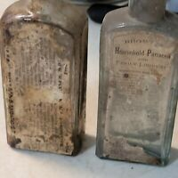 Browns PAIN PANACEA w/ labels 1880s EARLY VARIANT Browns Bottles Original label