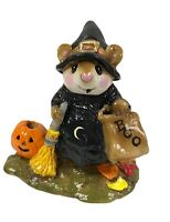 Wee Forest Folk M-120 Witchy Boo! Black Witch Pumpkin Halloween With Box