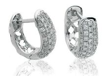 18CT White Gold Diamond Earrings New & Hallmarked