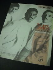 TKA New York's hottest dance group Have SCARS OF LOVE 1987 Promo Poster Ad mint