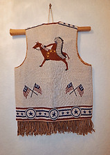 NATIVE AMERICAN STYLE FULLY BEADED VEST - NICE
