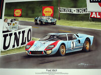 1966 LE MANS 24 HEURES HOURS FORD GT40 MK2 MKII KEN MILES DENNY HULME SHELBY