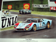 1966 le mans 24 heures heures ford GT40 MK2 mkii ken miles denny hulme shelby