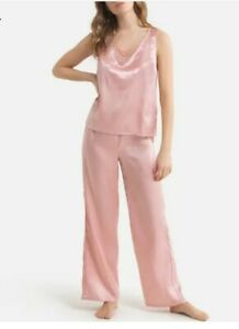 La Redoute Collections Pink Damask Dotted Satin Pyjamas Size 18 Bnib r. r .r £36