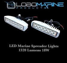 LOBO MARINE LED Spreader Flood Light Set 18W 12V 1320 Lumens Boat T-Top Lights