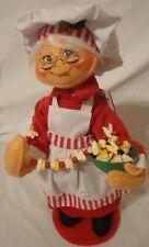 "Annalee Christmas Doll 13"" Mrs Chef Santa Claus 401111 Food Garland Nwt 2011"
