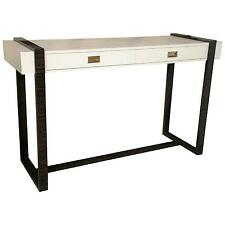 White Faux Crocodile and Macassar Console Table 101-2358