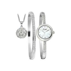 LIMIT Ladies Elegant Stone Watch Matching Bracelet, Ball Pendant SET