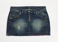 Minigonna jeans gonna corta M 44 usata jeans blu corta hot sexy vita bassa T1789