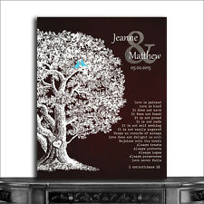 (CWA-1202) Personalized Personalized Gift Family Tree Anniversary Plaque 1 Co...