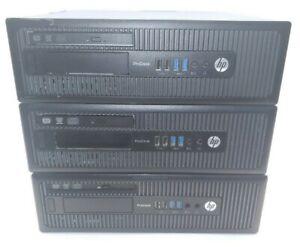 Lot of 3 HP ProDesk 600 G1 SFF Intel i5-4590 G3250 4GB RAM No HDD
