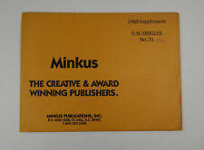 Minkus United Nations No. 31 1988 Supplement Singles Stamp Album Pages