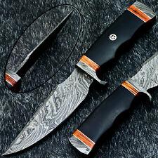 "Stunning Handmade Damascus Steel Blade 10.0"" - MICARTA - Hunting Knife TM-9928"