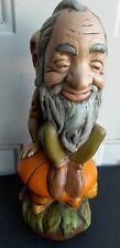 Ooak Ceramic Gnome Old Man