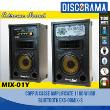 COPPIA CASSE AMPLIFICATE 1100 W USB BLUETOOTH KARAOKE DJ EXTREME SOUND MP3 SD