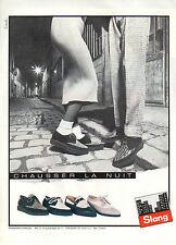 Publicité 1984  Chaussures SLANG  pret à porter collection mode