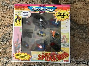 Vintage Micro Machines Amazing Spider Man Ltd Ed Marvel Collectors Set 1993