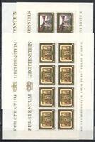 Liechtenstein 1978 Mi. 706-709 Kleinbogen 100% Postfrisch Fürst Franz Josef II