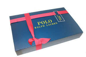 POLO RALPH LAUREN GIFT BOX PRESENT BIRTHDAY LIMITED EDITION BLUE LARGE JK88