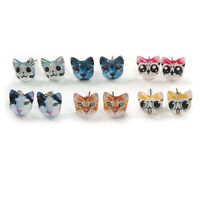 Children's/ Teen's / Kid's Acrylic Little Kittens Stud Earrings Set
