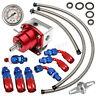 UniversaL Adjustable Fuel Pressure Regulator + 160PSI Oil Gauge AN 6 Fitting
