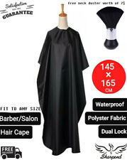 Hair Cutting Cape Barber Hairdressing Cloth Salon Gown Apron with Brush US