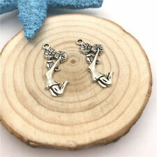 6pcs Jewellery Making Cheerleader Charms Pendant Tibetan Silver 28x10mm