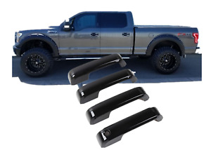 For 15-20 Ford F-150 F-250 F350 Gloss Black Door Handle Covers w/o Smart Keyless