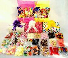 Deluxe Large RETRO SWEET HAMPER Gift Wrapped Christmas Birthday Thank You Home