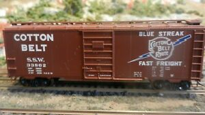 Roundhouse MDC HO Cotton Belt 40' steel Boxcar,  Upgraded, Ex