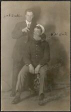 RPPC Photo TWO USMC BUDDIES Off Duty Prison Police Guard 1909 MARE ISLAND Drunks