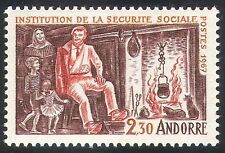 Andorra 1967 Social Security/Medical/Health/Welfare/Cooking/Fire 1v (n40981)