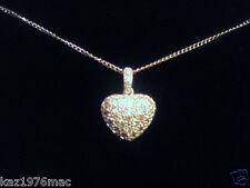 925 Sterling Silver 4.9g Cubic Zirconia Heart Pendant RRP 22.99