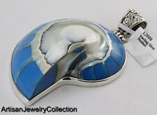 SHELL BALI PENDANT 925 STERLING SILVER ARTISAN JEWELRY COLLECTION MD1B297