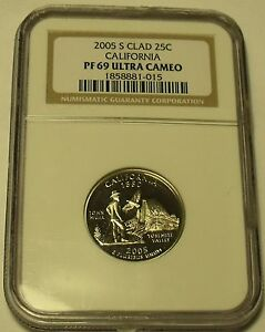 2005-S NGC CERTIFIED PROOF 69 ULTRA CAMEO CALIFORNIA STATE QUARTER