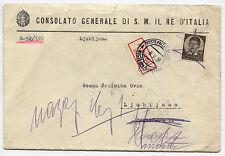 BUSTA, CONSOLATO GENERALE DI SM IL RE D'ITALIA, DA LJUBLJANA, MAG 1939     m